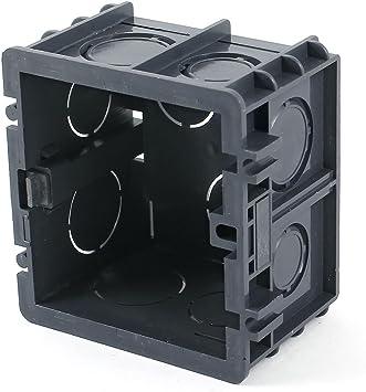 Aexit Caja cuadrada con diseño de patas negras de 82 mm x 80 mm x 50 mm (model: E8256VIX-9791FJ) de diseño cuadrado: Amazon.es: Bricolaje y herramientas