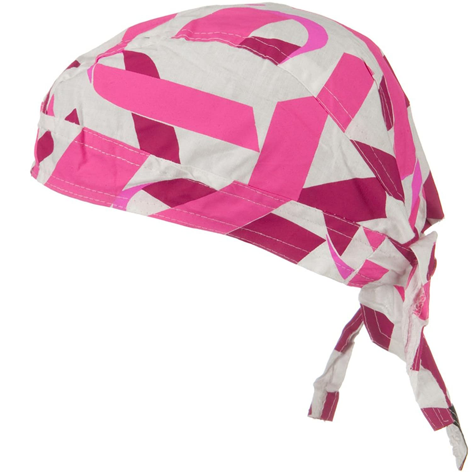 Pink Ribbon Headwrap - Pink Ribbon White W12S09F