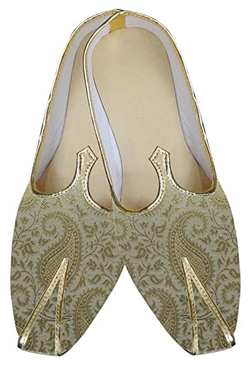 Mens Cream Wedding Shoe Designer MJ0006