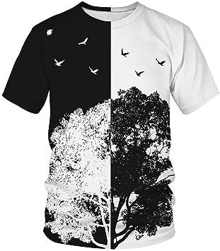 DAWWFV De los Hombres de Moda de Las Camisetas, Camisetas con Estampados de Aves, Las Tapas Flojas de Cuello Redondo de Manga Corta, Adecuado for el Trabajo, la Escuela, Viajes: Amazon.es: Electrónica