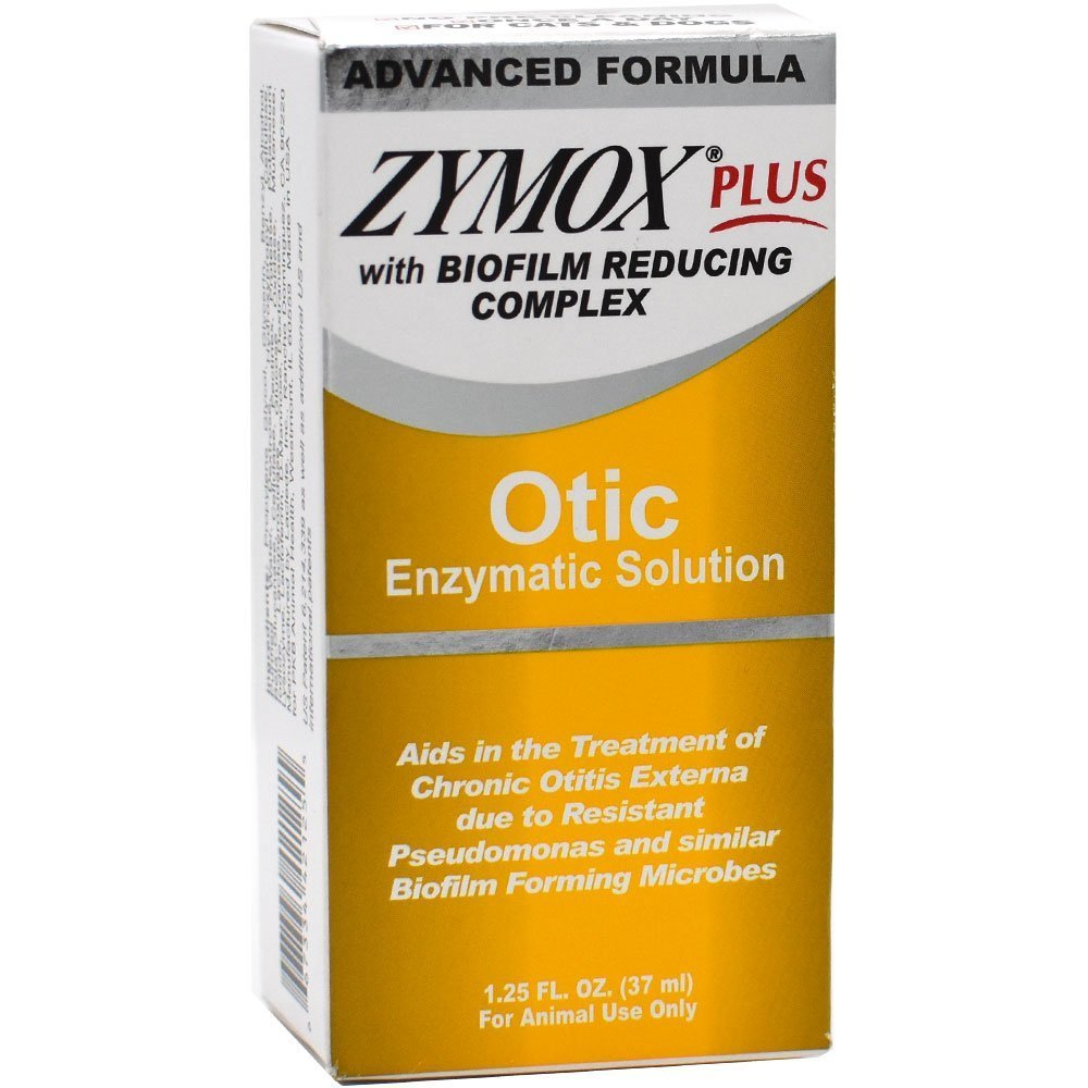 Zymox Plus Otic Enzymatic Solution NO HC with Biofilm Reducing Complex (1.25 oz)