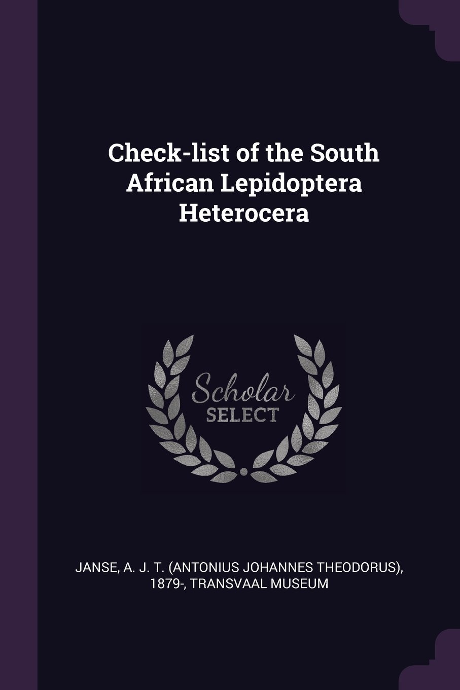 Check-List of the South African Lepidoptera Heterocera PDF