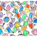 "144 Big Jewel Rings ~ 1"" Plastic ~ Princess Dress-up Diva - Play Kreative TM"