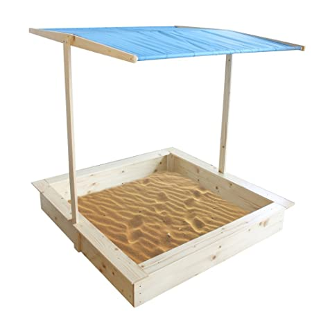 Superb Homewear Wood Sand Box With Cover, Natural