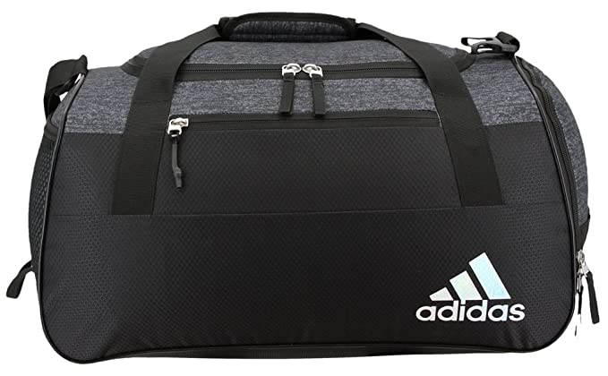 4ca370b42 Amazon.com: adidas Squad Duffel Bag, Black Jersey/Black, One Size ...