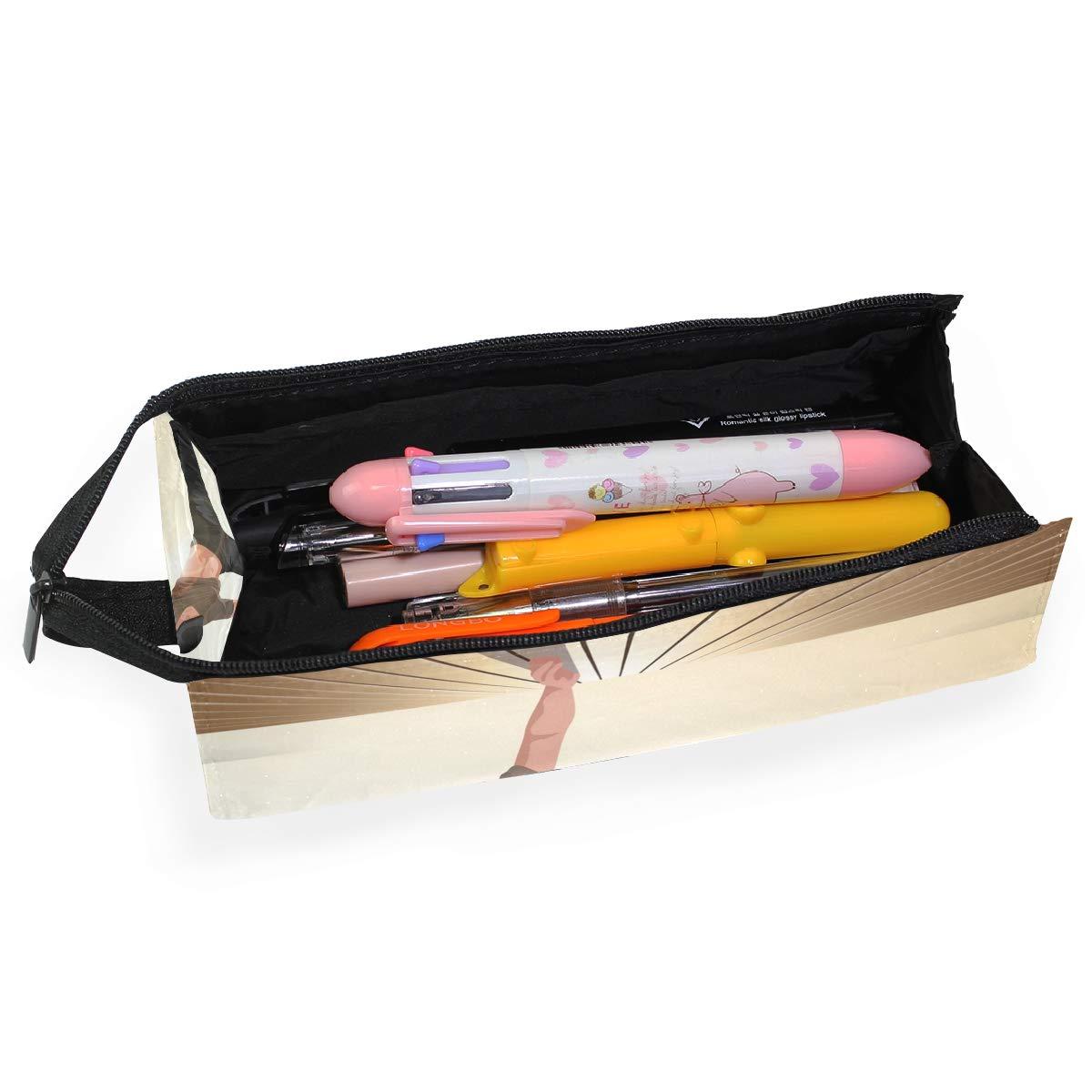 Hip Hop Dancer Glasses Case Portable Soft Sunglasses Pen Bag Protective Pouch
