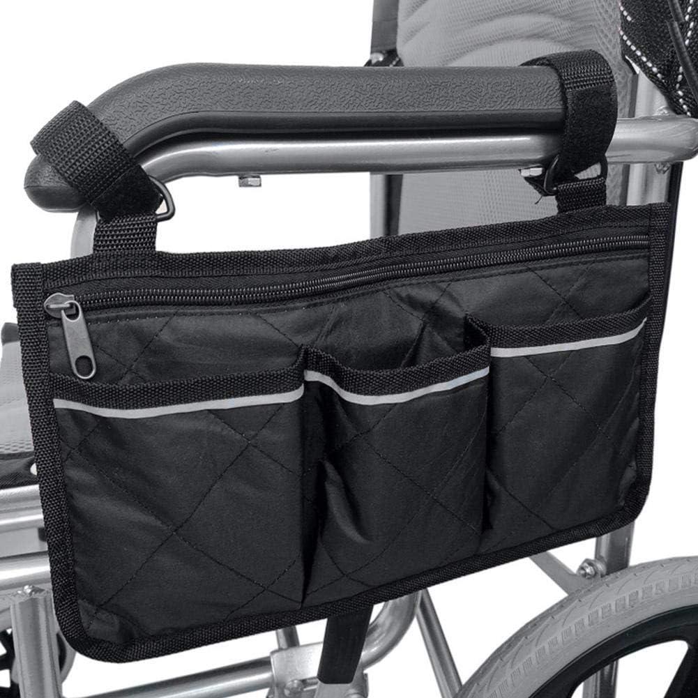 Bolsa lateral para silla de ruedas con bolsas: ideal para sillas de ruedas eléctricas, scooter eléctrico, accesorios de andador, otros dispositivos de movilidad: bolsa de enfermera ligera y organizado
