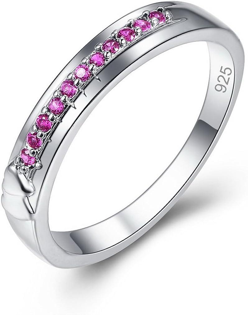 YAZILIND Pretty Ring Rhinestone Platinum Plated Promesa Compromiso joyería para Mujeres