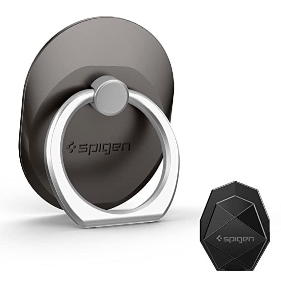 the best attitude 2ff46 15365 Spigen Style Ring Cell Phone Ring Phone Grip/Stand/Holder for All Phones  and Tablets - Space Gray