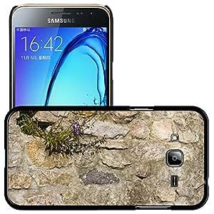 Print Motif Coque de protection Case Cover // M00158290 Muro de piedra natural de la arena // Samsung Galaxy J3 SM-J3109