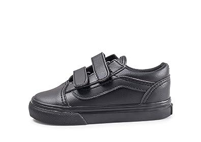 Amazon.com  Vans TD Old Skool V Black Mono Classic Tumble Infant ... 3015fa7b08