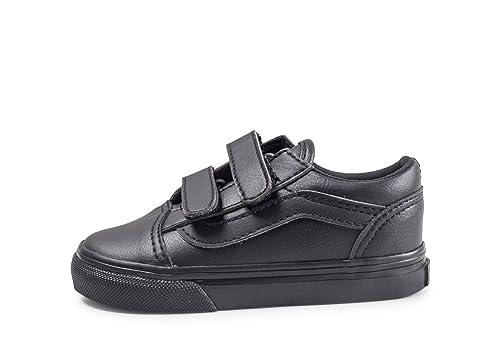 Amazon.com  Vans TD Old Skool V Black Mono Classic Tumble Infant ... 8be2f757c