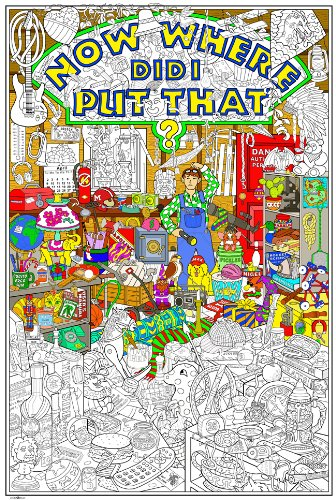 World's Most Challenging Coloring Poster - Giant