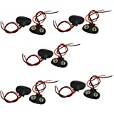 uxcell10 Pcs Faux Leather Housing T Type Clip Connector for 9V Battery