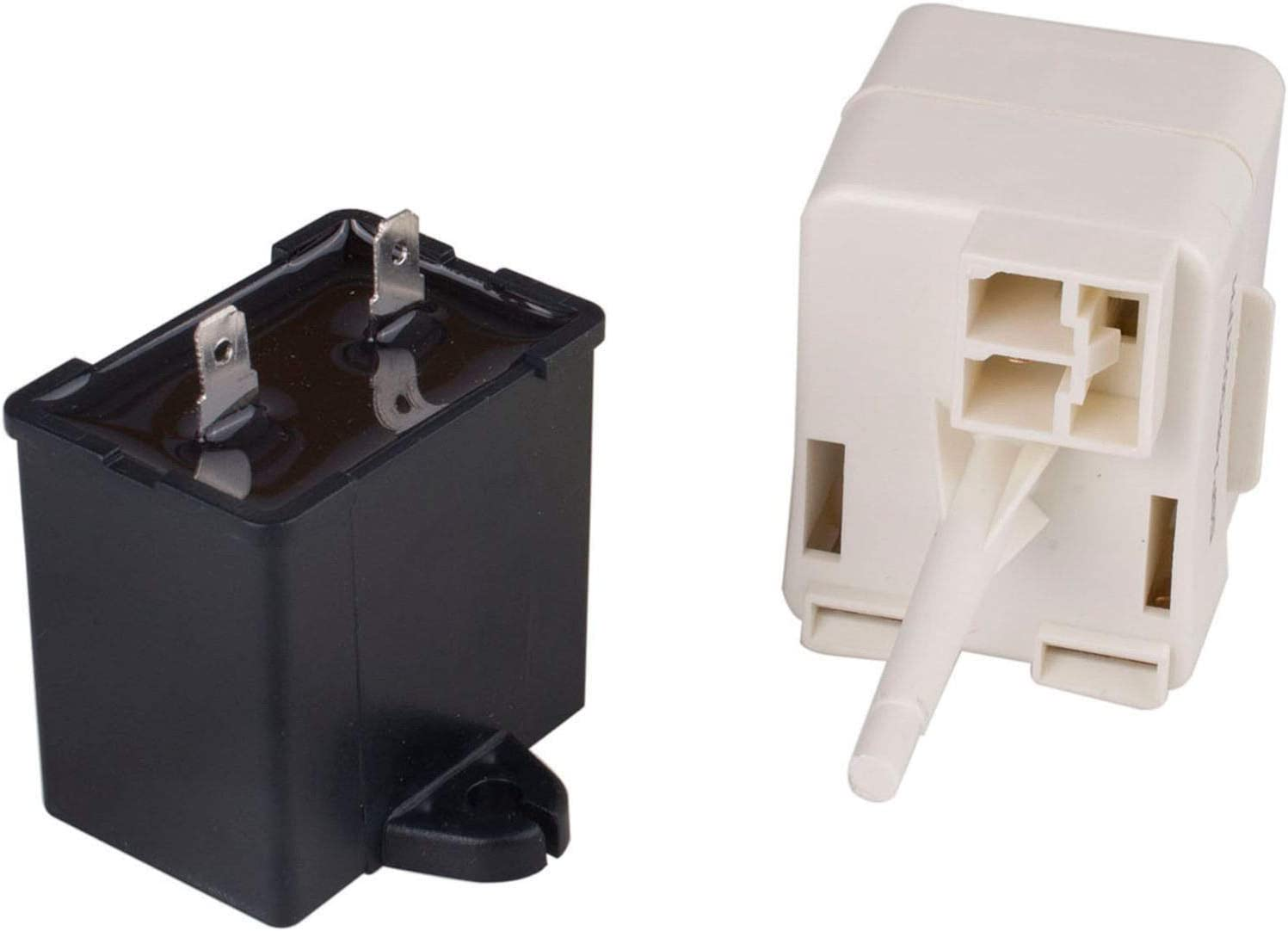 Replace part number: W10416065 W10613606 Refrigerator Compressor Start Relay and Capacitor Compatible with Whirlpool 67003186 fridges PS8746522 Kenmore