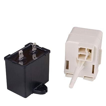 Amazon com: Refrigerator Compressor Start Relay & Capacitor