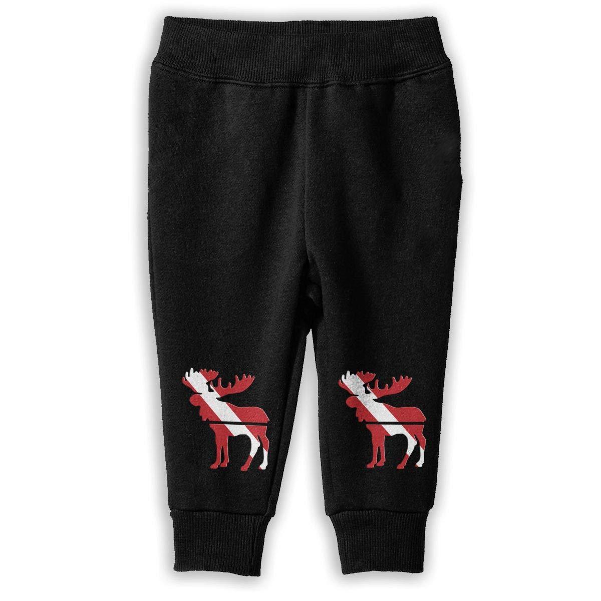 Baby Girls Athletic Pants NJKM5MJ Moose Dive Flag Sweatpants