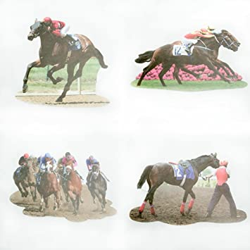 14quot Two Sided Horse Racing Cutouts