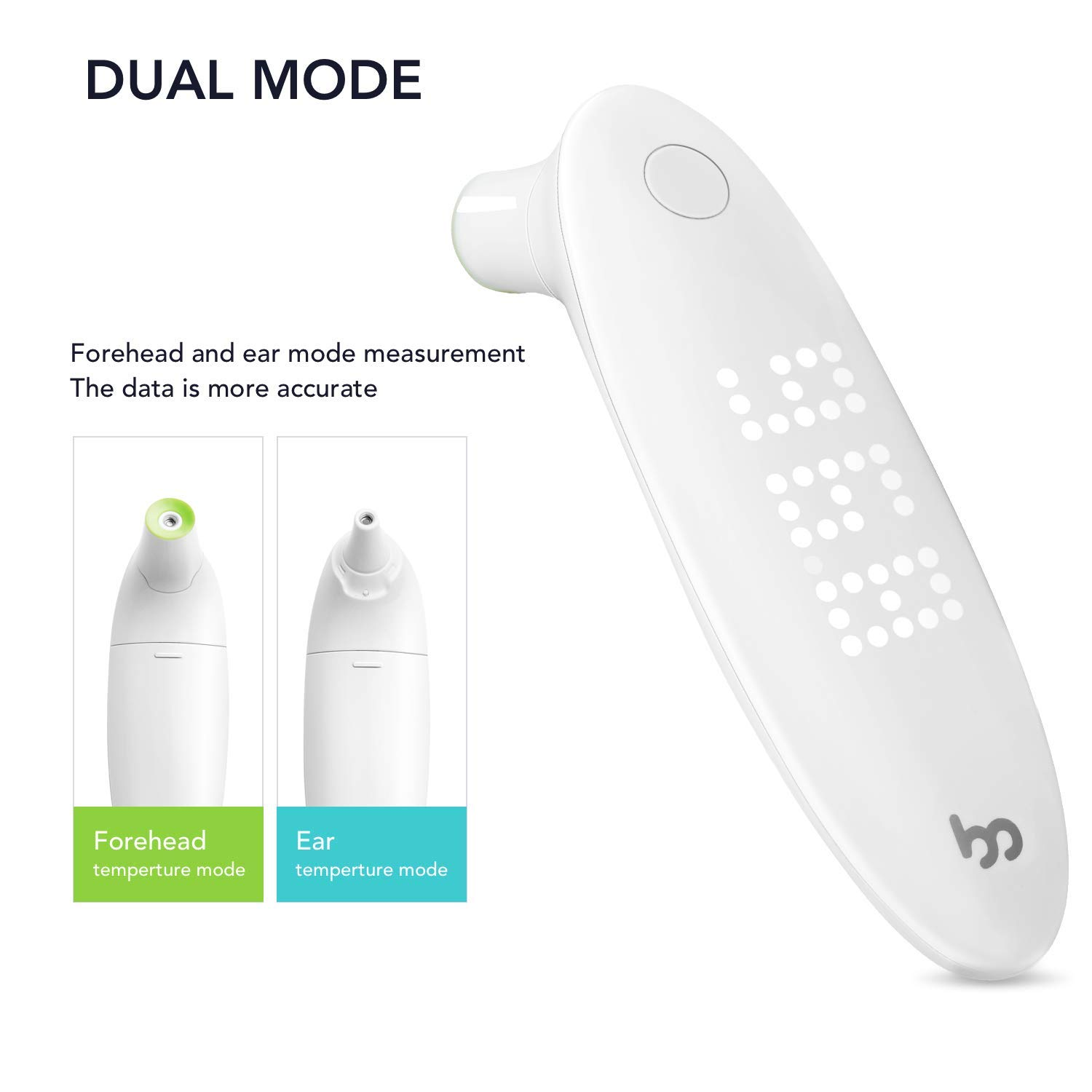 Medical Ear and Forehead Thermometer for Fever, Infrared Digital Thermometer for Baby Kids and Adults, Accurate One Second Instant Read Thermometer