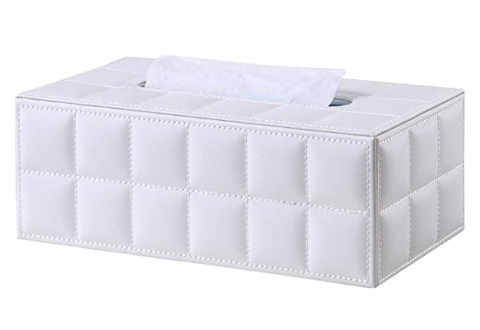 LAMEIDA Caja de Pañuelos de Cuero PU Impermeable Europeo Estilo Portapañuelos de Papel Kleenex para Casa Baño Coche Dormitorio Sala de Estar Hotel ...