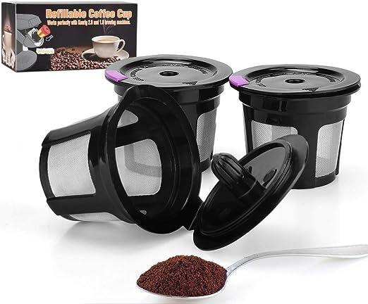JUYOU Reutilizable malla de acero inoxidable Filtro de café ...