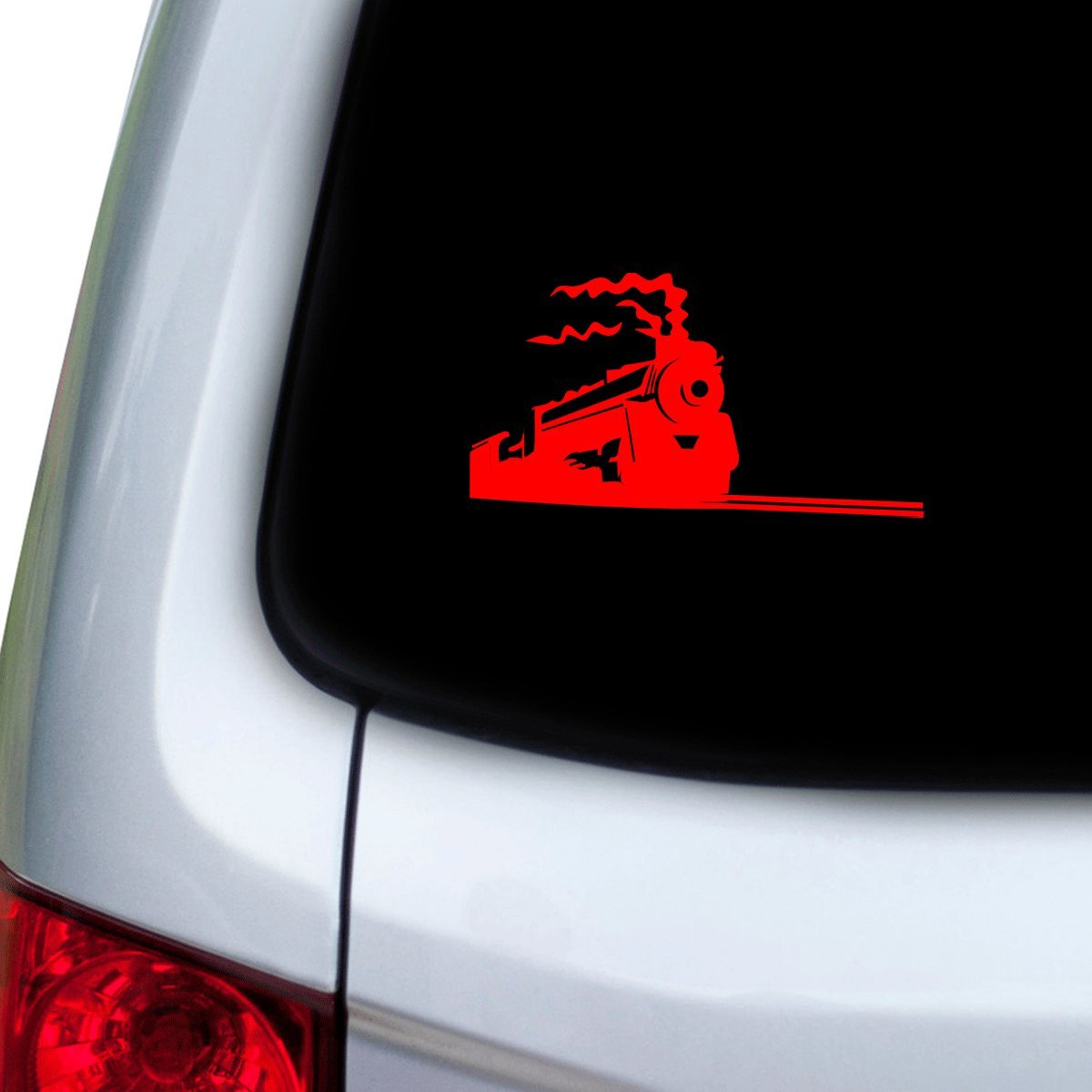 StickAny Car and Auto Decal Series Running Train Sticker for Windows Hoods Doors Red
