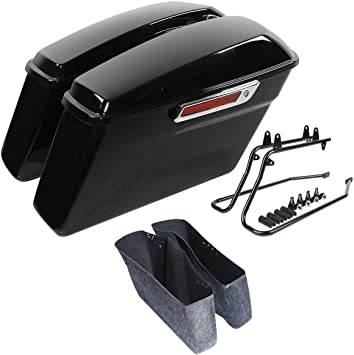 Open Box Saddlebag Supports For 1984-Present Harley Davidson Softail BLACK