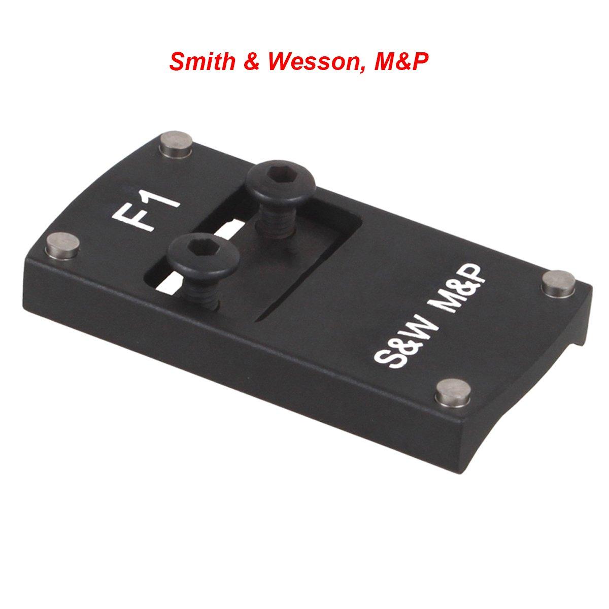 Vector Optics Sphinx Mini Red Dot Scope Sight Mount Base for Pistol GLOCK, M1911, SIG Sauer P226, Baretta 92, Springfield XD, Smith & Wesson, M&P, HK USP (Black) (Smith & Wesson, M&P) by Vector Optics