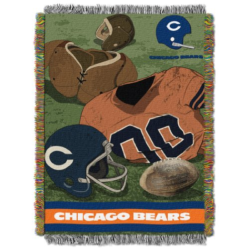 - The Northwest Company Officially Licensed NFL Chicago Bears Vintage Woven Tapestry Throw Blanket, 48