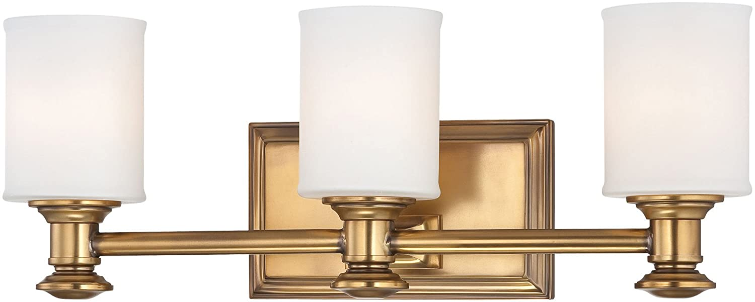 Minka Lavery Wall Light Fixtures Harbour Point 5173-249 Glass Reversible 300w 7 H x 19 W Vanity Light in Brass