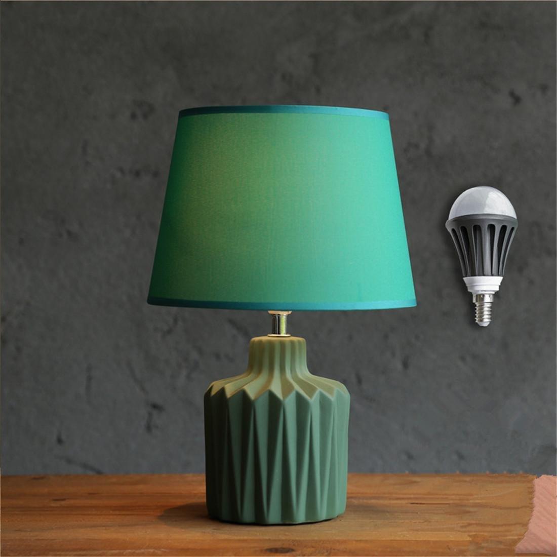 ZHOUYAN Nordic Kreative Amerika Einfache Einfache Einfache Modernen Mode Schöne Warm Grüne Keramik Einstellbare Licht-LED Warmes Licht Wohnzimmer Studie Schlafzimmer Bett 25  34 B07DZCK1LQ | ein guter Ruf in der Welt  fdc5f9