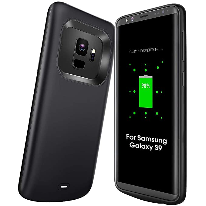 finest selection e42e6 dbe4f Amazon.com: NEWDERY Samsung Galaxy S9 Battery Case Slim, 4700mAh ...