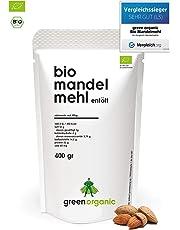 BIO PREMIUM MANDELMEHL   Weiss   Lower-Carb   Glutenfrei   Vegan   Entölt   Proteinreich   Ballaststoffreich   Paleo Superfood   Nachhaltig und Fair angebaut   400g