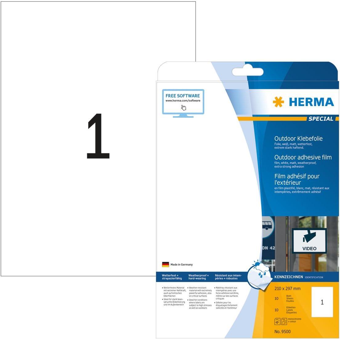 29,7 x 7 cm, 5 Blatt, Polyesterfolie r/ückstandsfrei abl/ösbare Bodenaufkleber schwarz gelb selbstklebend HERMA 12919 Bodenmarkierung Abstand Halten Piktogramm wetterfest