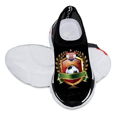 2018 World Cup Croatia football team 3D Printing Customized Fashion Low Flyknit Outdoor Comfortable Sports Football Casual Breathable Kids Shoes White