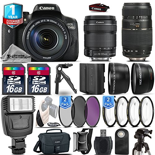Canon EOS Rebel 750D DSLR Camera + Canon 18-135mm ...