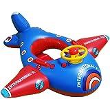 Goodid flotador para bebé de forma avión con asiento, volante y altavoz