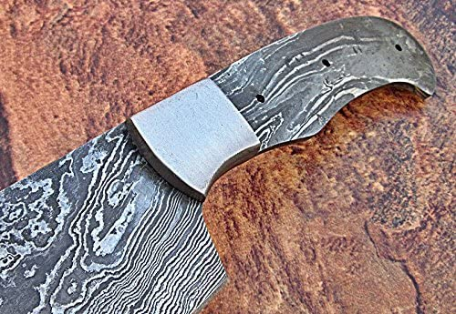 Poshland BBC-657, Handmade Damascus Steel 12 Inches Full Tang Chef Knife with Stainless Steel Bolster Blank Blade