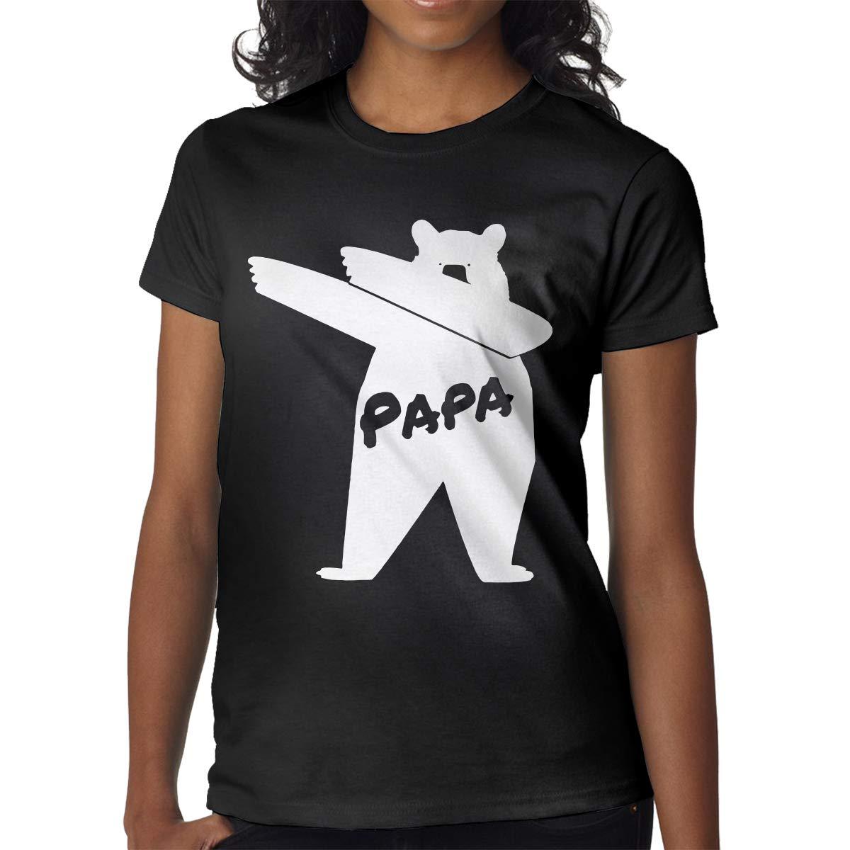 Printed Dabbing Papa Bear Fashion Shot Sleeves T Shirt