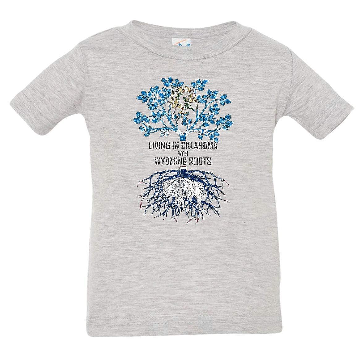 Tenacitee Babys Living in Oklahoma Wyoming Roots Shirt