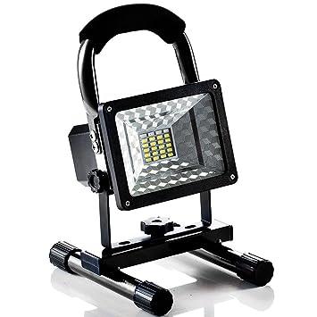 Foco LED Proyector Lámpara Camping 15W Foco LED Reflector para Trabajo Exterior, Lámpara Proyector LED