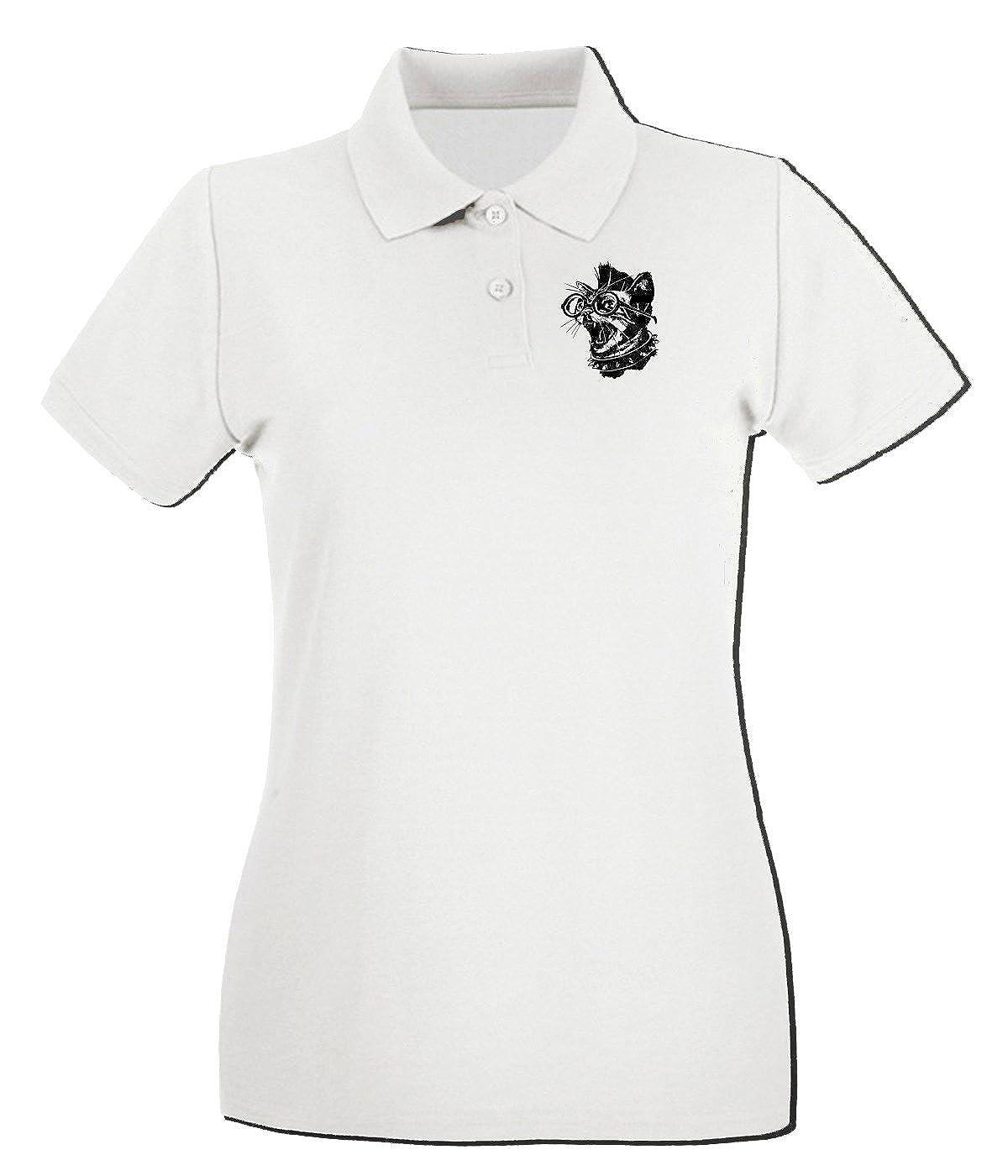 T-Shirtshock - Polo para mujer FUN0028 02 09 2014 Punk Cat T SHIRT ...