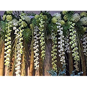 Felice Arts Artificial Flowers 6.6ft 32 Heads Butterfly Orchid Home Decor Fake Flower for Wedding Home Office Party Hotel Restaurant 3