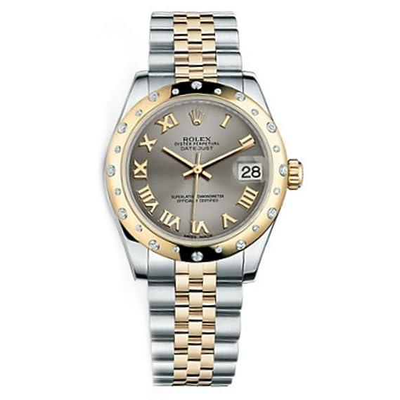 Rolex Datejust Gris Dial de la mujer reloj m178343 - 0022: Amazon.es: Relojes