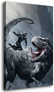 Venom t rex Canvas Art Poster and Wall Art Picture Print Modern Family Bedroom Decor Posters