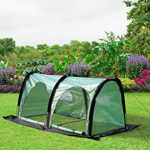 PHI VILLA Pop Up Greenhouse-Flower Plant Greenhouse 79″x 39″x 39″ (Black)