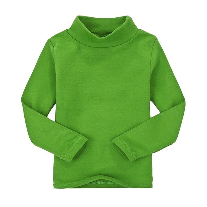 CuteOn Niños para niños | Cuello Alto | De manga larga | algodón | De camisetas
