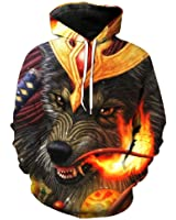 Chiclook Cool 3D Hoodies Wolf Men Sportswear Tracksuit Casual Pullover Hoody Tops Brand Hooded Sweatshirts