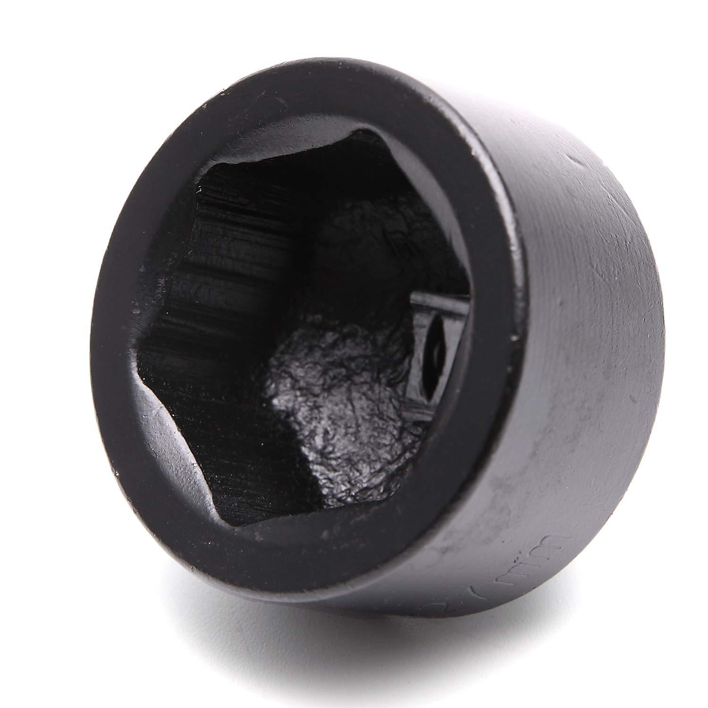 Xuchen Tools 36mm Black Car Oil Filter Wrench Cap Socket-Chrome Vanadium Steel Drive 3//8 Low Profile Fuel Filter Socket