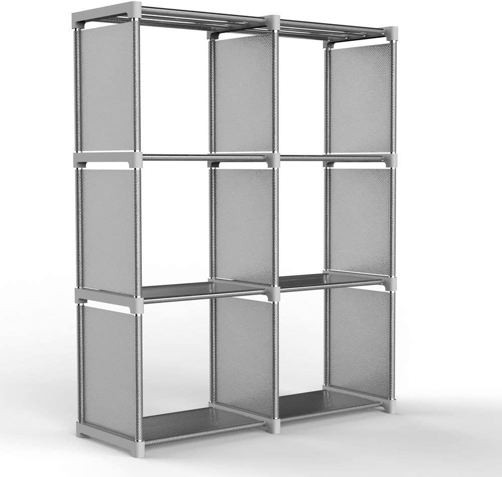 Leio 4-tier estante organizador del armario de almacenamiento cubo, DIY 9-cube estantería armario sin puertas para dormitorio, sala de estar y oficina.: Amazon.es: Hogar